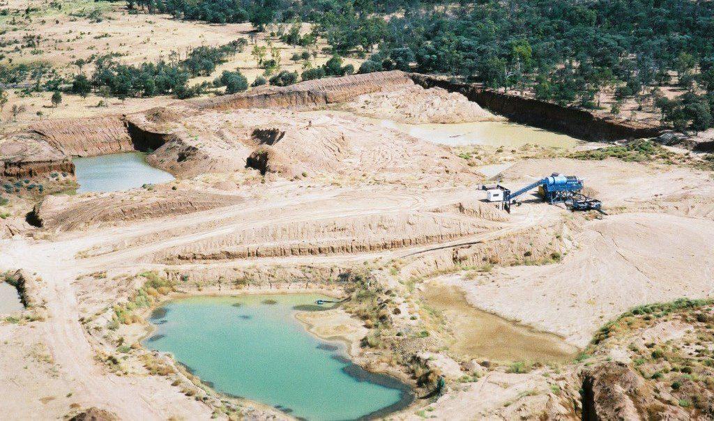 australian sapphire mining site