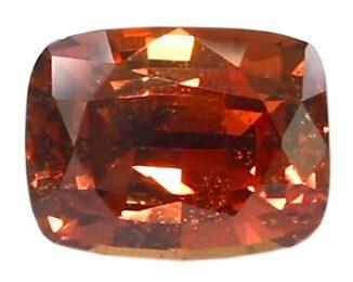 cushion cut brown sapphire