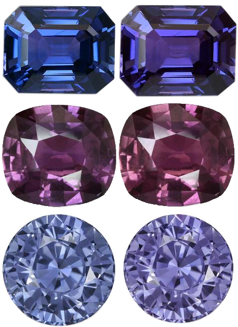 color change sapphires examples