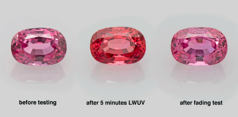 color fading padparadscha sapphire