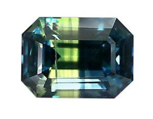bi-color Nigerian sapphire