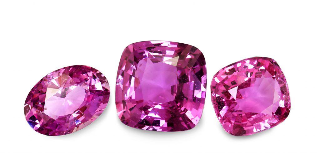 natural pink sapphires