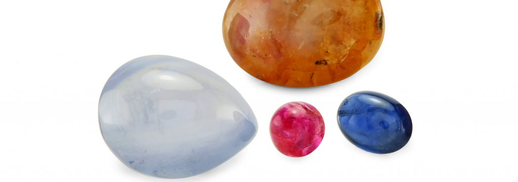 natural untreated cabochon sapphires