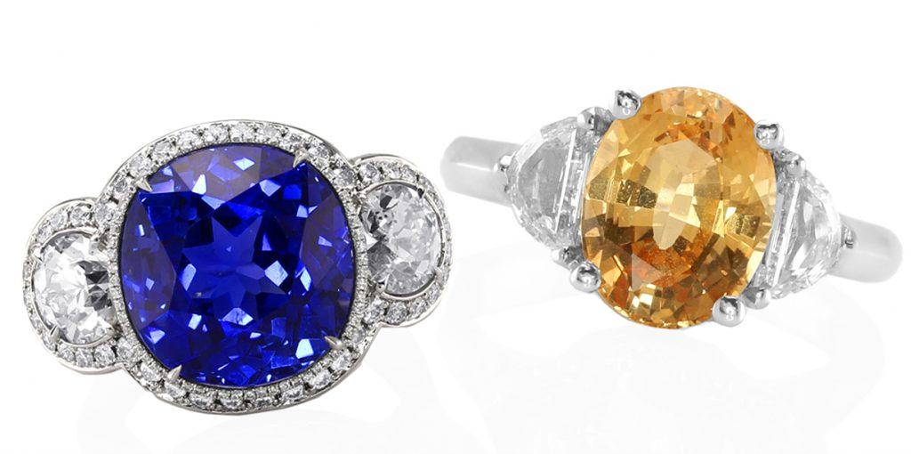natural sapphire diamond rings
