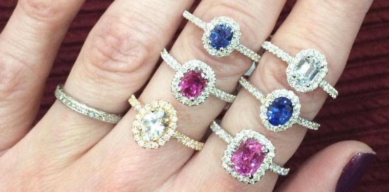 sapphire rings on fingers natural
