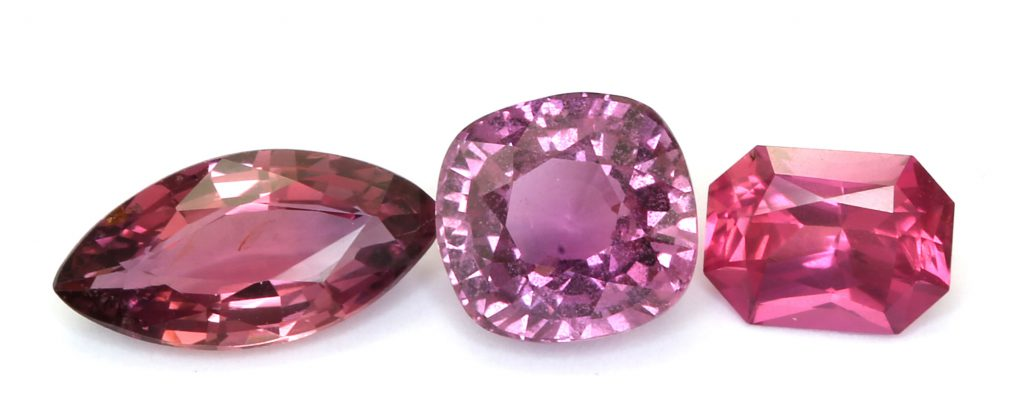 reddish pink natural sapphires