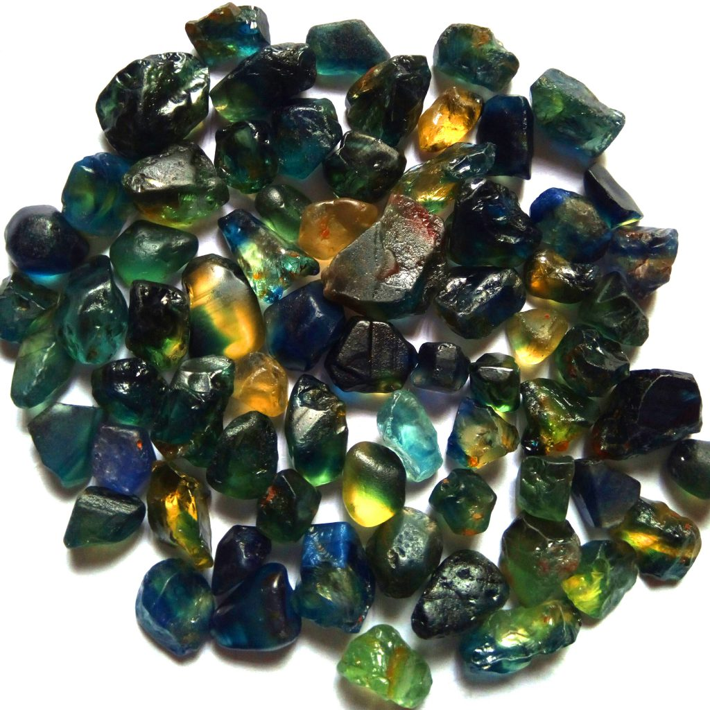 Nigerian sapphires various mines