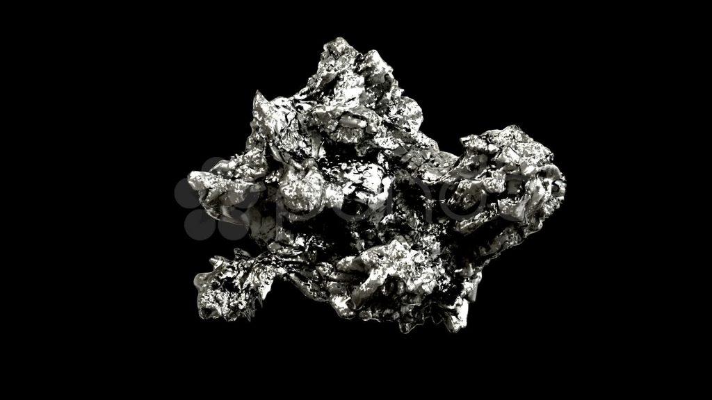 pure silver nugget