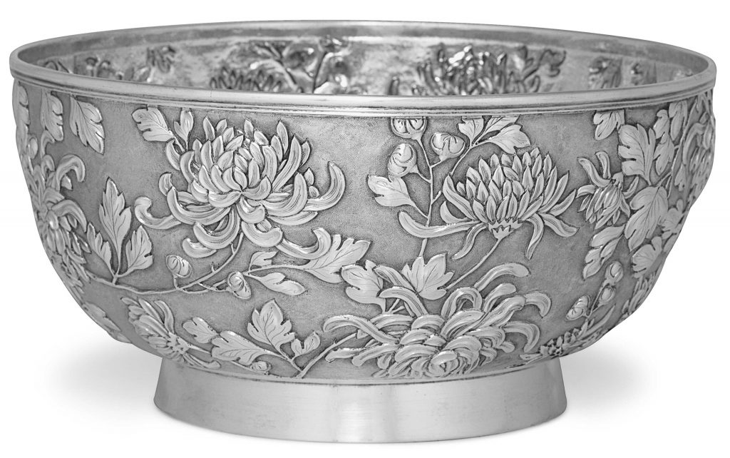silver chinese bowl