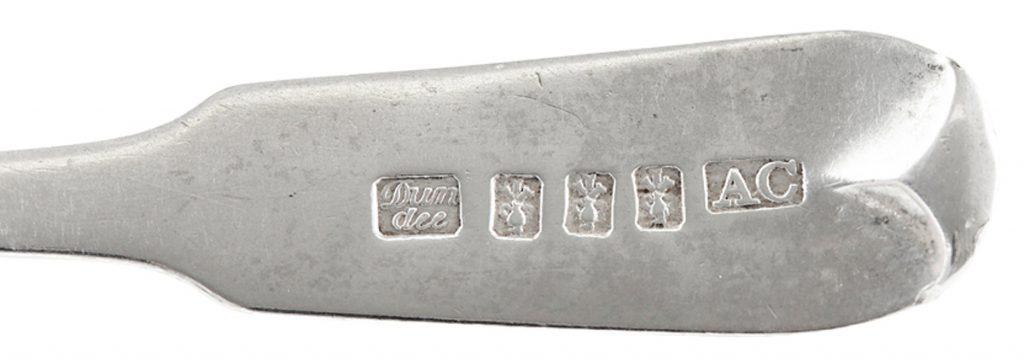 silver hallmarks spoon