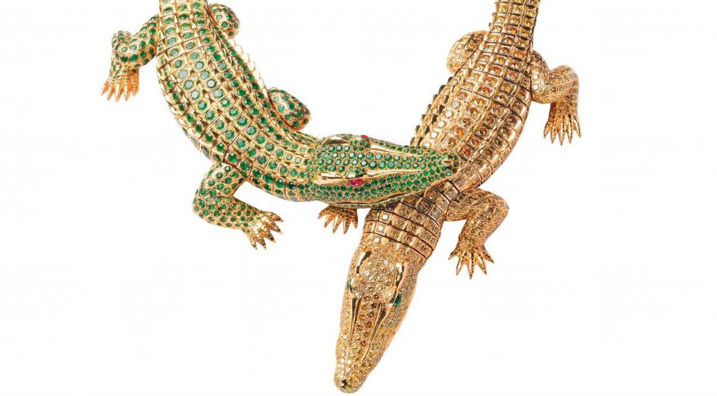 cartier crocodile necklace