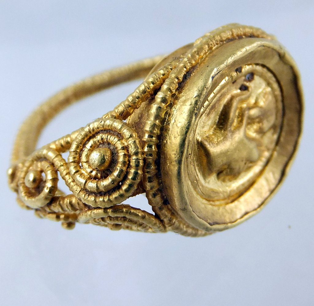gold ancient love ring