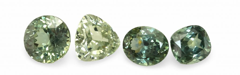 green natural sapphires