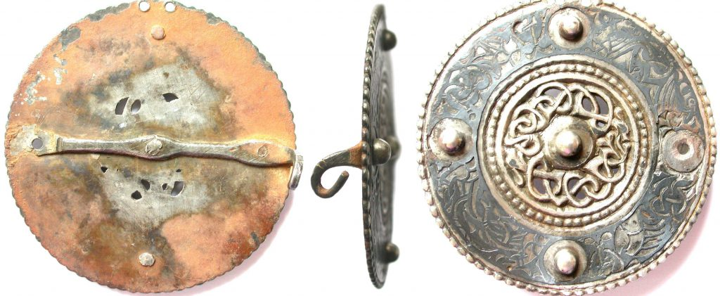 medieval silver brooch