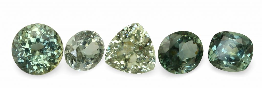 natural green sapphires