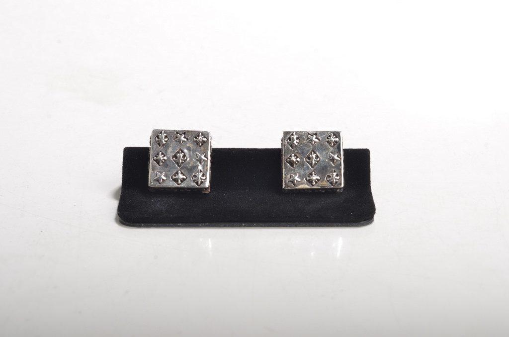 silver vintage cufflinks