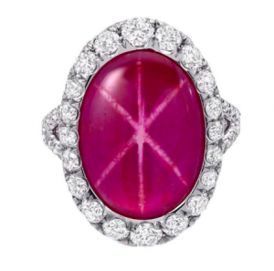 ruby star sapphire engagement ring
