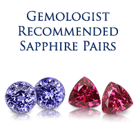 Gemologist Recommended Sapphire Pairs