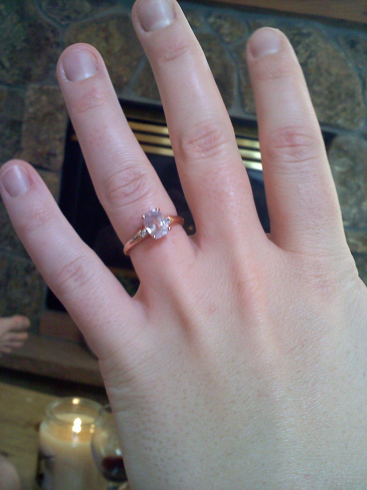 Sapphire Engagement Ring Image Description; Image Description