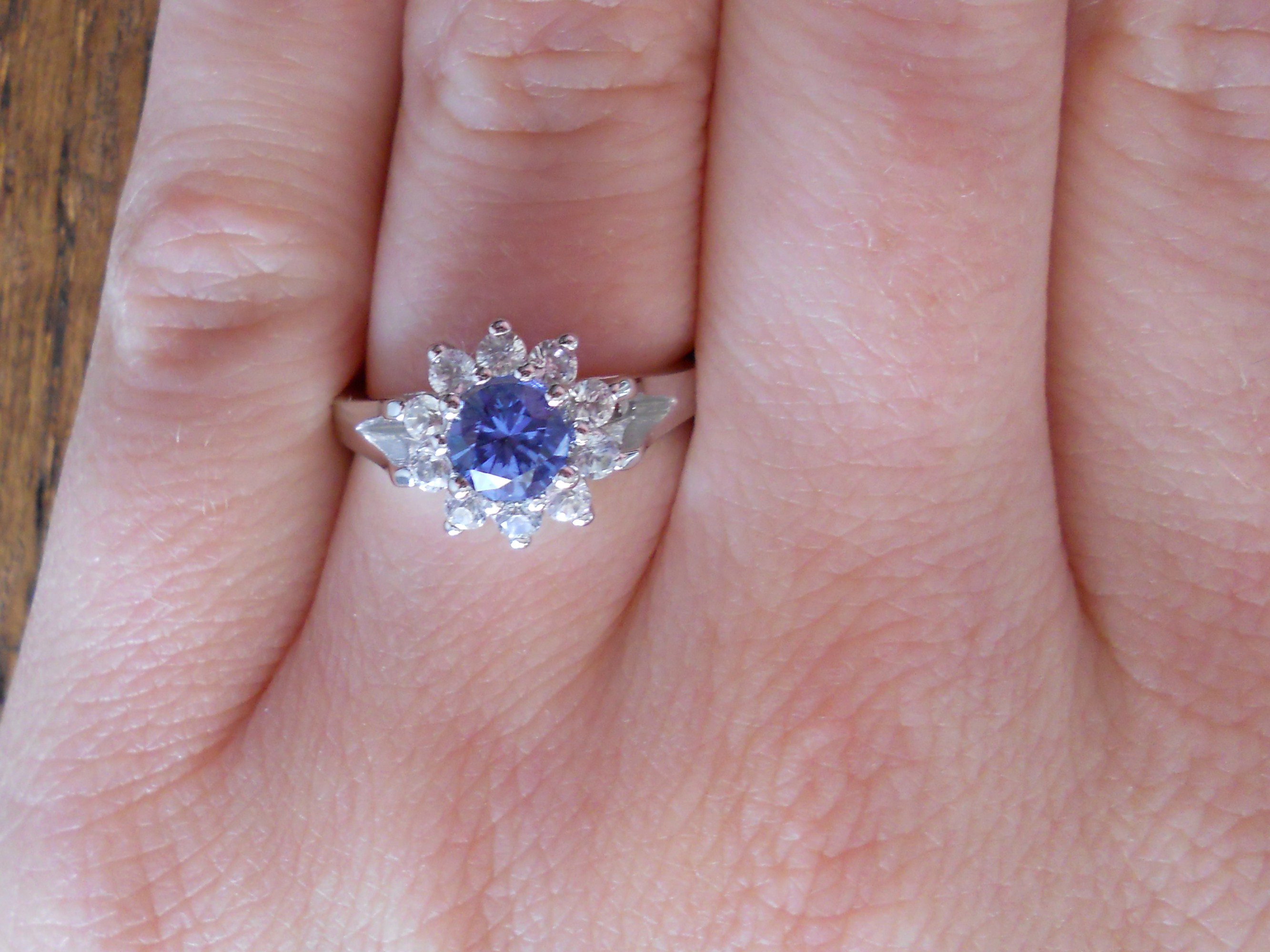 A Beautiful Blue Sapphire Engagement Ring - The Natural Sapphire ...