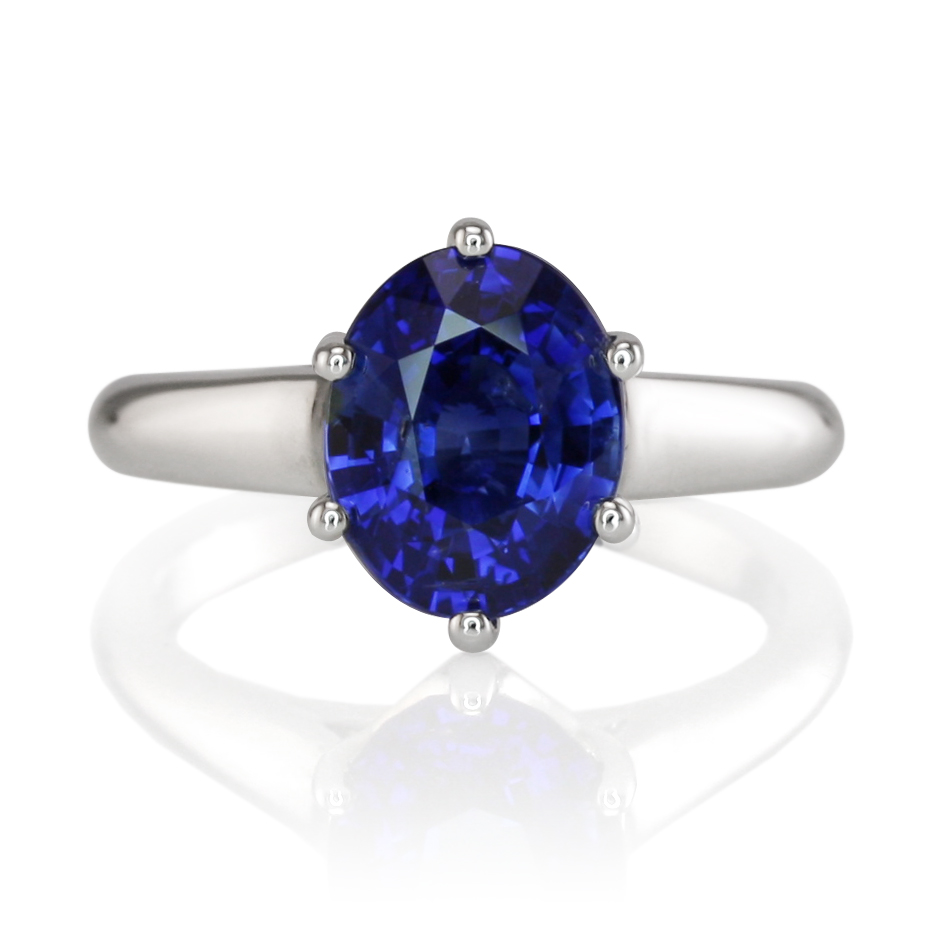 A Perfect Engagement Natural Oval Blue Sapphire Ring The Natural Sapphire